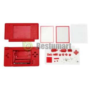 Red FULL HOUSING CASE FOR NINTENDO DS Lite NDSL DSL Housing Cover