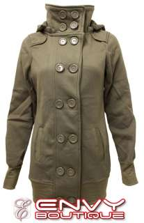 MILITARY LOOK COAT WOMENS CASUAL JACKET TOP SIZE 8 10 12 14 16