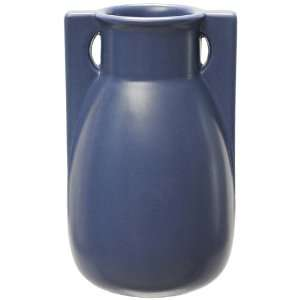 Teco Pottery Blue Two Buttress Vase Home & Kitchen
