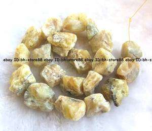 rough Natural Yellow Opal baroque Beads 15 new gemstone high quality