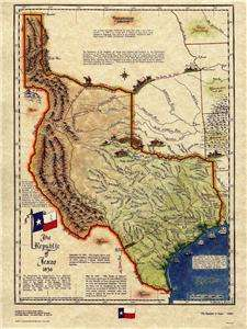 Republic of Texas Historical Map 1836