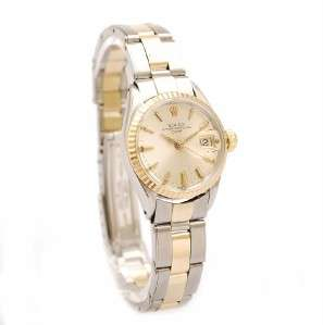 1960 ROLEX OYSTER PERPETUAL DATE AUTOMATIC GOLD & STEEL BRACELET