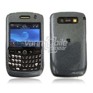 VMG Black Carbon Fiber Design Hard 2 Pc Plastic Snap On Case Cover for