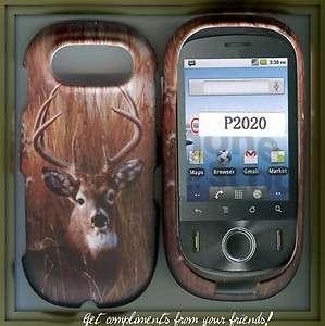 Pantech Ease P2020 hard rubberized cover case camo deer