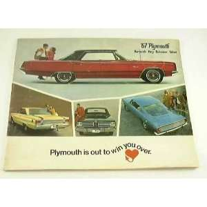 1967 67 PLYMOUTH BROCHURE Barracuda Valiant GTX Fury