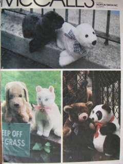 M6814 Stuffed Animals/Dog~Cat~Bear~Seal +More PATTERN New/UC
