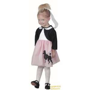: Childs Toddler Girls 50s Poodle Skirt Costume (2 4T): Toys & Games