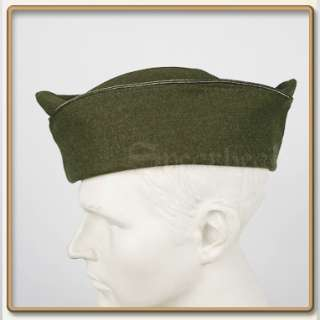 WW2 US Army Officers PX Olive Drab Wool Garrison Cap