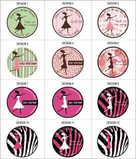 72 round labels 1.67 party favor sticker bridal shower