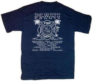 Maui Fire Department Firefighter Hawaii T shirt L