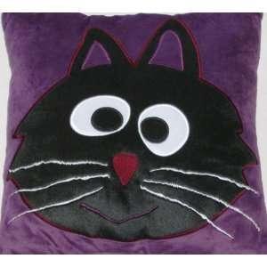 Halloween Black Cat Accent Pillow & Super Soft Throw