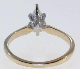 14K YELLOW GOLD DIAMOND ENGAGEMENT RING GIA CERTIFIED MARQUISE DIAMOND