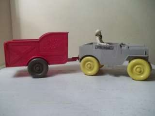 1957 ROY ROGERS HORSE TRAILER & JEEP IDEAL TOY IN BOX VINTAGE TRIGGER