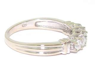 14kt White Gold .50ct Diamond 4mm Wedding Band Stack Ring I SI