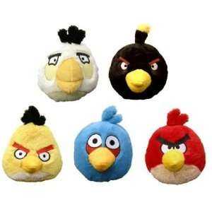 SET(5) of Angry Birds 5 Plush Toys Dolls w/Sound
