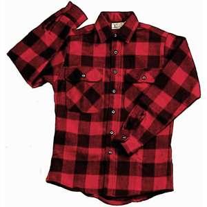 Red/Black   Buffalo Plaid Extra Heavyweight Brawny Flannel Shirt