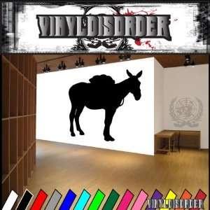 Western Pack Mule NS004 Vinyl Decal Wall Art Sticker Mural