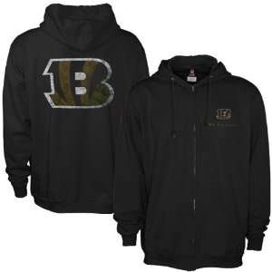 Cincinnati Bengals Black Touchback Full Zip Hoody
