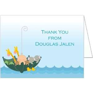 Ark   Boy Baptism Christening Thank You Cards   Set of 20: Baby