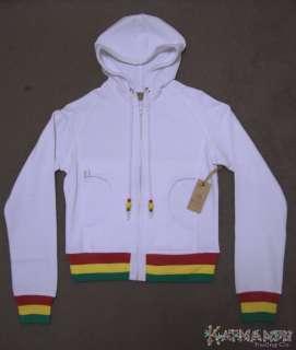 Bob Marley Reggae Rasta Smile Jamaica White Hoodie