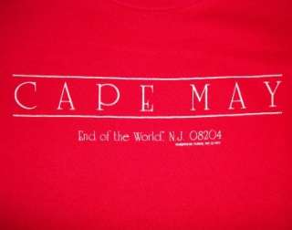 Vtg 1982 CAPE MAY T SHIRT retro 80s indie emo punk SOFT
