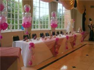 Wedding Decoration Swags Balloons Bows Top Table Party