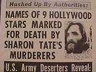 HEADLINE~CRIME SHARON TATE DEATH CHARLES MANSON COURT ACCUSED