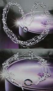 925 Sterling Silver Plated Necklace Bracelet Set 31