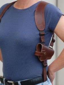 BROWN LEATHER SHOULDER HOLSTER WALTHER P88 P99 Compact