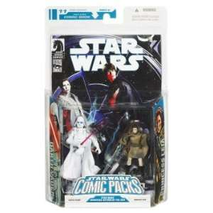 Wars Action Figure Comic 2 Pack White Darth Vader & Leia Sniper Toys