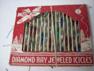 Old Diamond Ray Twisted Metal Christmas Icicles OB #252 |