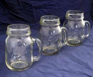 BALL MASON DRINKING JARS MUGS OR GLASSES (3)