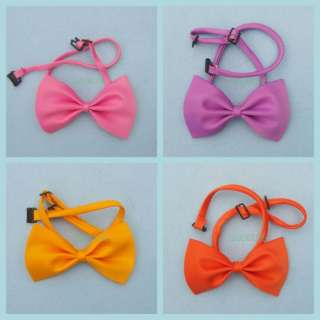 Dog Cat Pet Collar ACCESSORY Bow tie necktie PINK ★