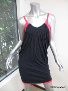 Marc By Marc Jacobs Black/Hot Pink Sleeveless Dress XS