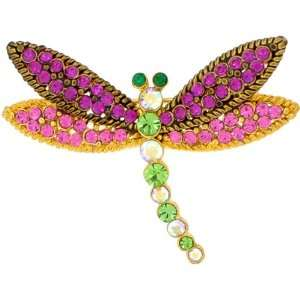 Pink Dragonfly Swarovski Crystal Insect Pin Brooch Jewelry