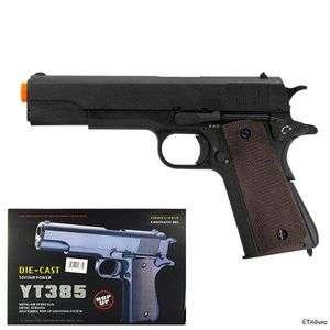 1911 WWII Spring Action METAL Black Die Cast Airsoft Pistol Gun