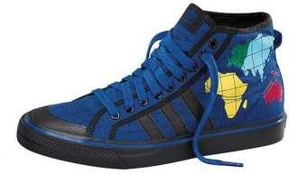 ADIDAS Original JEREMY SCOTT Shoes NIZZA HI Map World