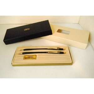 CROSS PEN SET BLACK AND GOLD MSRP 110.00 AND UP MENS WOMENS EASTER