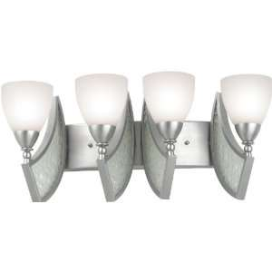 Kalco Lighting Oceana 4 Light Bath Wall Sconce with White Cased Glass
