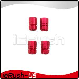 NEW Car Tire wheel Valve stems caps RED 4pcs