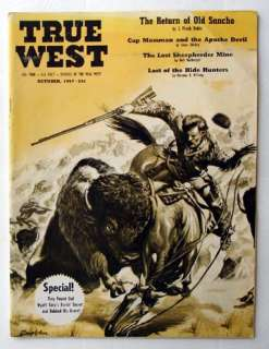 True West #23 Oct 1957 Buffalo Hunting Wyatt Earp