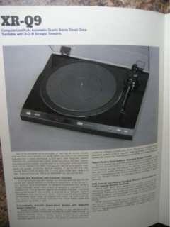 Sansui Turntables Brochure XR Q9,FR Q5,FRD4,FRD3,SRB200