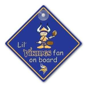 Minnesota Vikings NFL Lil Fan on Board Sign Sports