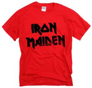 Iron Maiden Logo metal rock music t shirt