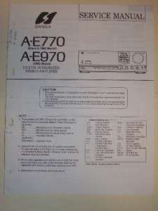 Sansui Service Manual~A E770/E970 Amplifier~Original