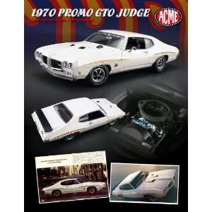 1970 Pontiac GTO Judge White Promo Ad Car 1/18 1 of 1000