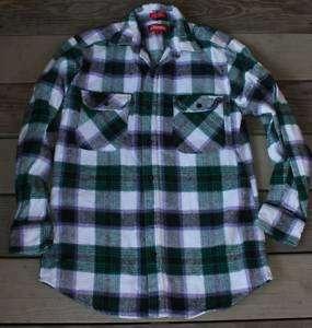 Vtg Coleman Flannel thick Shirt Men S GRUNGE punk green