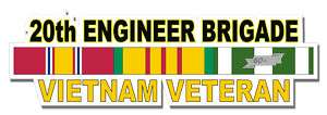 20th Engineer Brigade Vietnam Veteran 5.5 Sticker