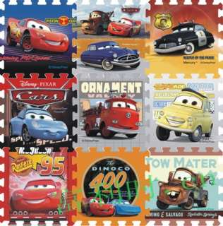 Disney car big Foam Floor Puzzle Mat Soft Mat 4pc