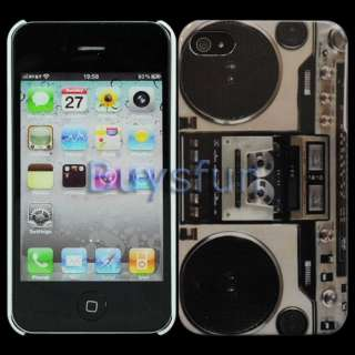 Radio cassette player Hard Cover Case Skin for Apple iPhone 4 4G 4S